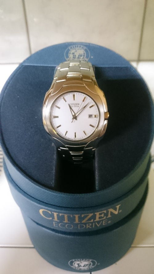 s watches genuine citizen eco drive silver and gold