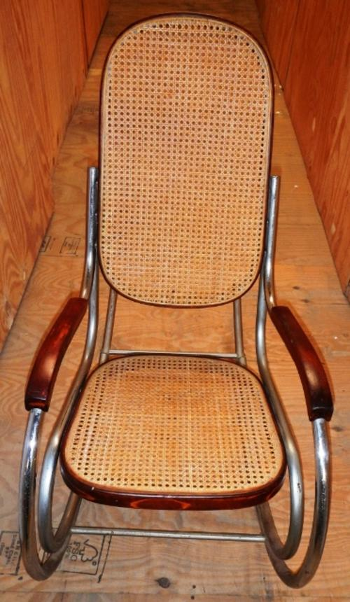 Chairs Stools Footstools Vintage Designer Rattan And Chrome Rocking