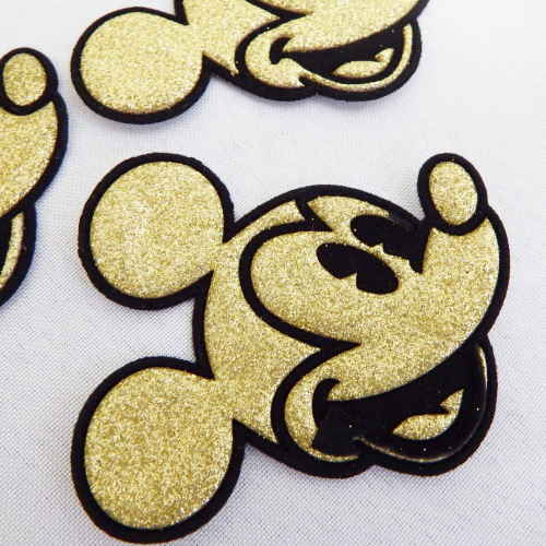 Patches - Lot Of 10 Gold Colour Mickey Mouse Head Patches Was Listed For R40.00 On 26 Dec At 15 ...