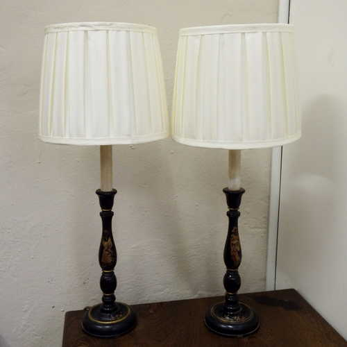 Other Antiques & Collectables - Beautiful pair of vintage bedside lamps - Height with lampshade ...