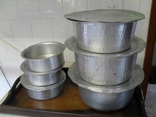 Pots A Set Of 6x Quot Indian Curry Quot Aluminium Cooking Pots