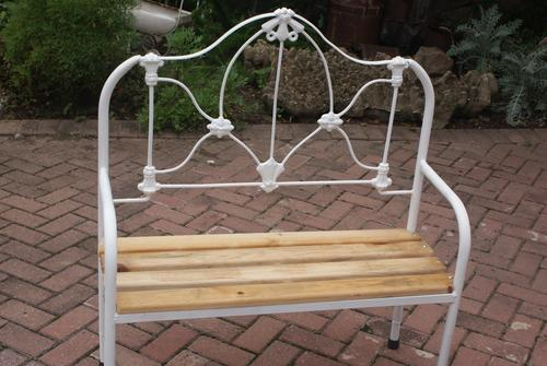 Old Antique Bed Bench Made From Cast Iron