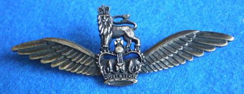 BRITISH ARMY AIR CORPS PILOTS WING WORN POST 1956-PINS INTACT