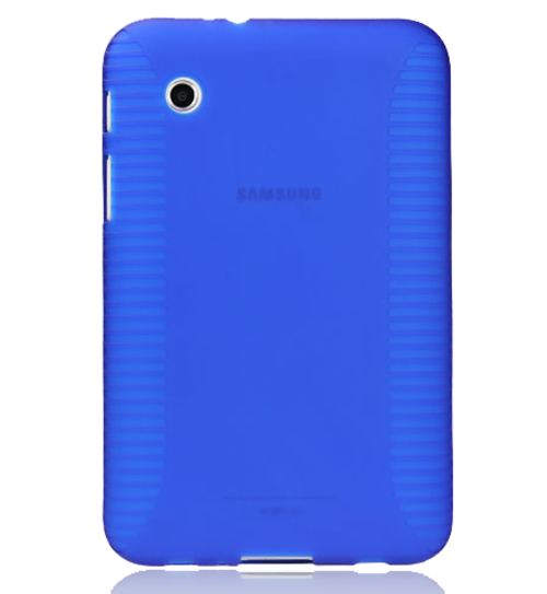 separation shoes 03de4 54dc9 Skidproof TPU Plastic Tablet Back Cover Tablet Case For Samsung Galaxy Tab  2 P3100 Blue