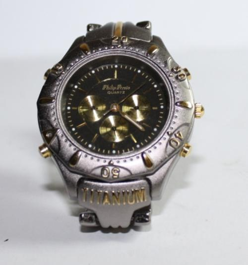 is gold watch loading blue titanium mens yellow s aerospace breitling quartz watches itm f image