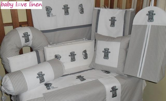 12 Pc Embroidered Tatty Teddy Baby Linen Full Set