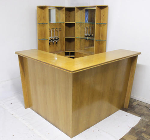 Free Standing Bar Counter And Cabinet