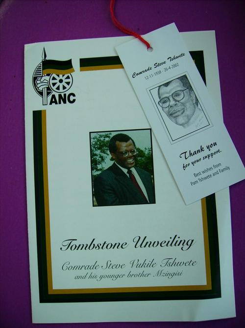 tombstone unveiling programme designs