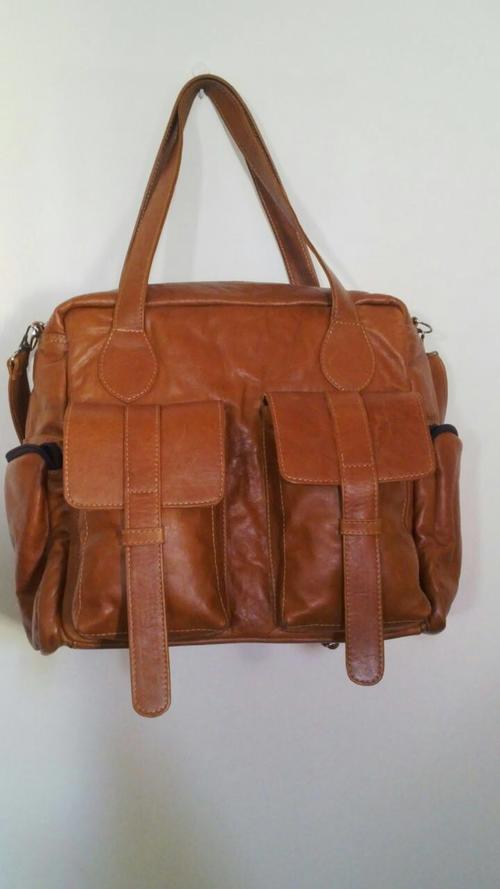 b7dce7b126 Handbags   Bags - Eli Butterscotch leather nappy bag overnight bag ...