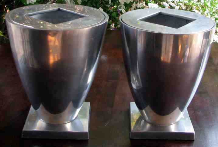 Other Metalware Vases 2 Solid Aluminium Vases Signed By Michael