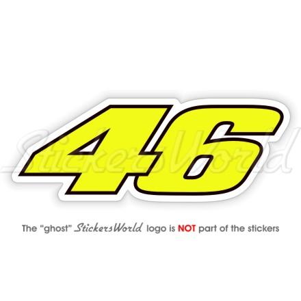 Other Decals Emblems Valentino Rossi 46 Motorbike Racing Moto