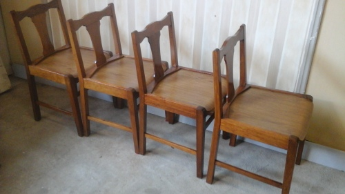 Chairs stools footstools four magnificent vintage kiaat dining room chairs stunning - Sturdy dining room chairs ...