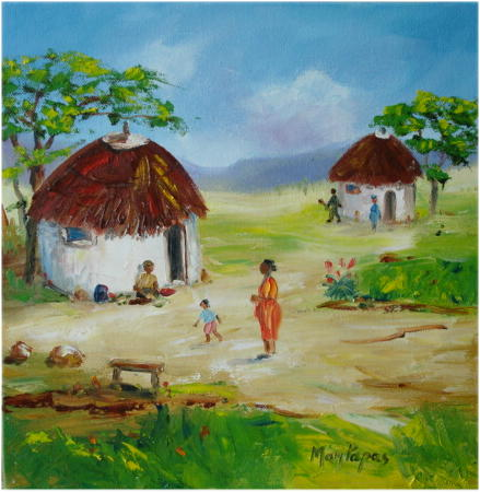 Paintings African Huts 1 Oil Painting Gt Gt Crazy Start R1