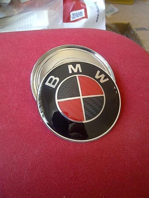 Other Parts Accessories Bmw Bonnetboot Red Carbon Fibre Emblem