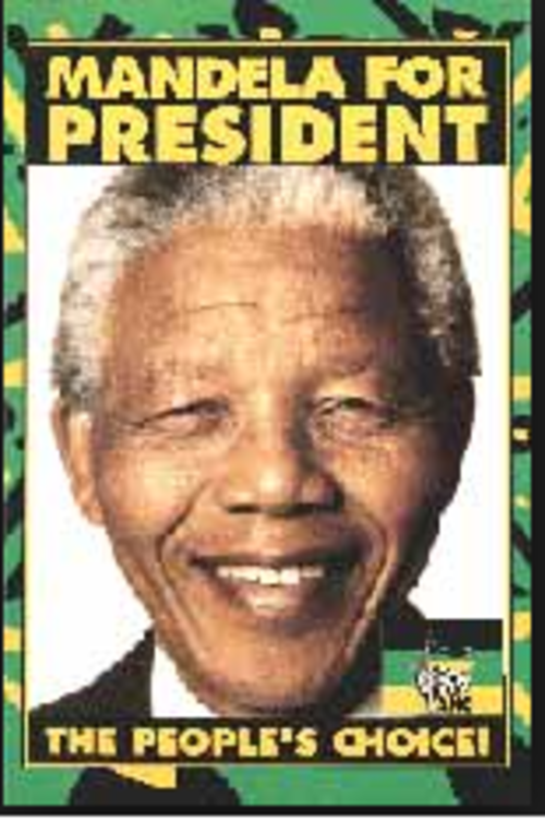 Mandela memorabilia nelson mandela for president 1994 election poster unused was sold for