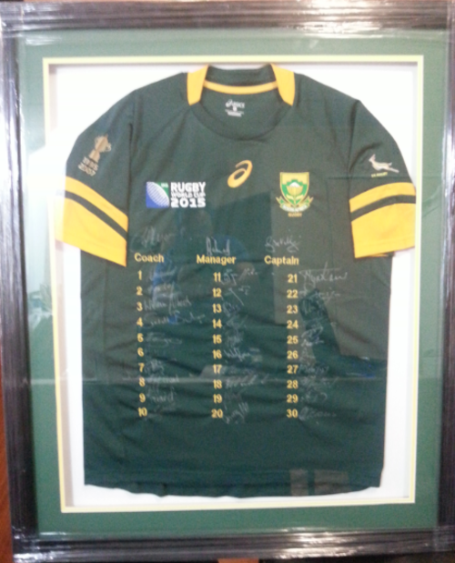 Rugby South Africa Springboks Signed 2015 Rugby World Cup Jersey