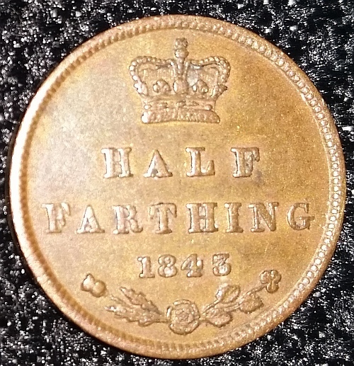 Monarch Victoria (1837 - 1901) Edge	plain Weight	2.4 g Diameter	18 mm Composition	copper