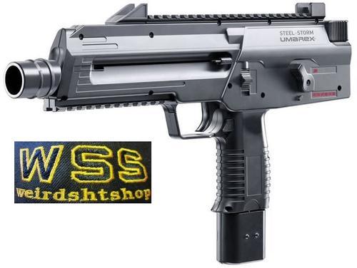 Uzi style submachine gun - Umarex Steel Storm - 4 5mm steel BB Co2  Auto/Semi Auto + free BBs and CO2