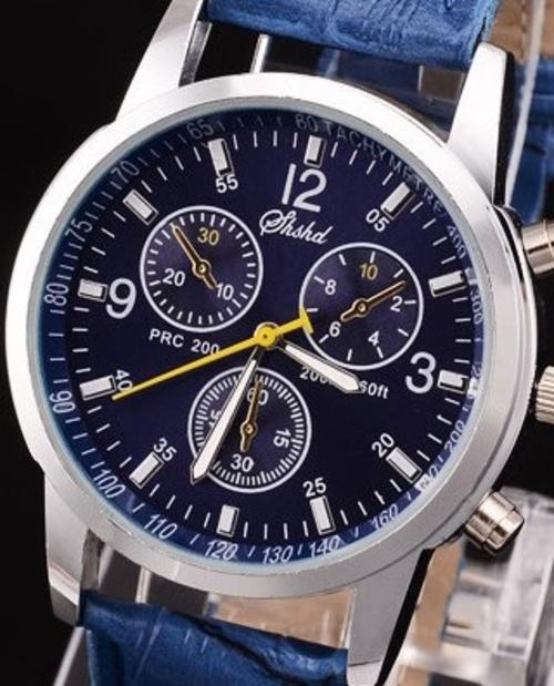 dial classic watches men shshd item was leather pu blue mens s watch