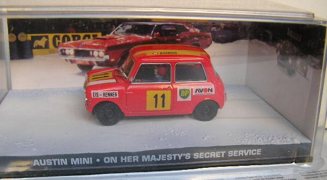 Models James Bond Diecast Model Car Collection Austin Mini Movie