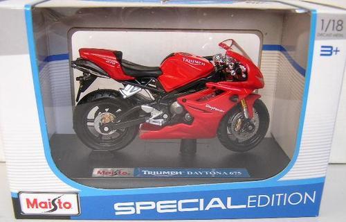 Maisto Diecast Motorbike Bike Model Triumph Daytona 675 118 Scale New In Pack