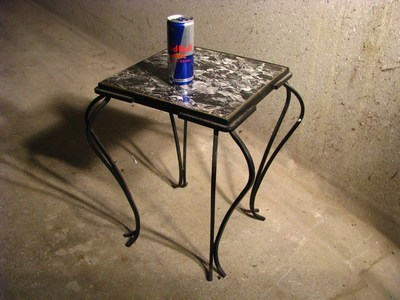 Small Ornate Metal Legs : Tables - Small Decorative Glass Table with metal legs was listed for ...