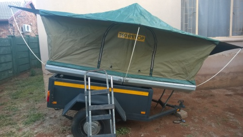 Comes with double mattress and travel cover (faded and few holes in travel cover). Tent perfect condition. An ladders for high 4x4s. & Tents - Rooftop Tent - Technitop was sold for R4000.00 on 19 Aug ...