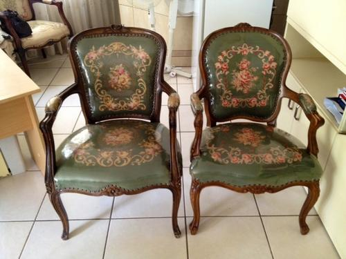 Incroyable ***STUNNING PETIT POINT OLD ANTIQUE CHAIRS SET (QUEEN ANNE) VERY FINE HAND  MADE U0026 RARE!! R1 START!!