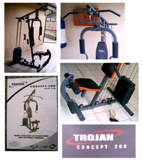 Elliptical trainers trojan concept home gym was sold for r
