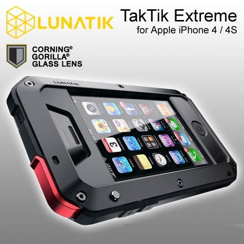 sports shoes 64d42 d2831 iPhone 4/4S LUNATIK TAKTIK Case - With Corning Gorilla Glass Screen  Protection