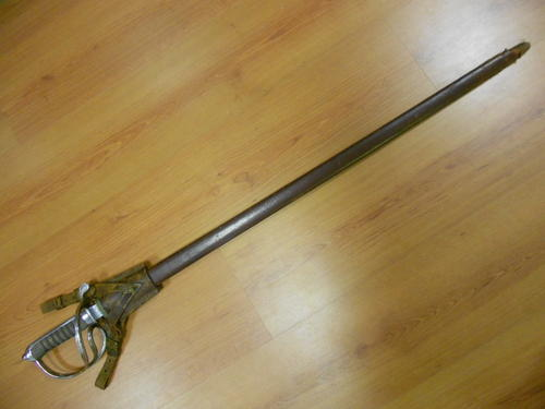 South African Army ceremonial sword leather scabbard and frog, made by  Hobson and sons - as per scan