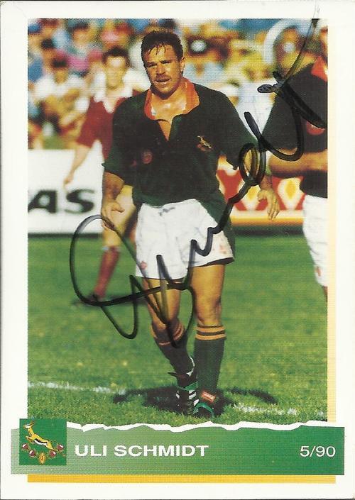 Uli Schmidt Rugby 1994 ULI SCHMIDT SPORTS DECK CARD Autographed Last