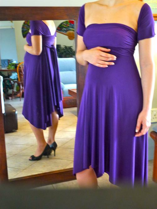 Infinity wrap dress styles