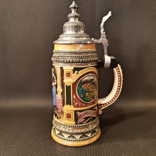 Tankards Rare Large Highly Detailed German Beer Stein Was Sold For On 17 Aug At