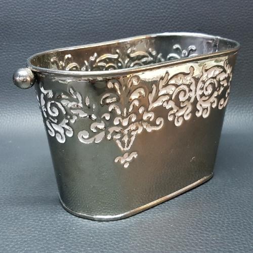 Other metalware decorative small metal planter bucket for Metal bucket planter