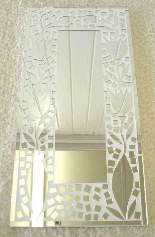 Mirrors - White tulip rectangular mosaic mirror was sold