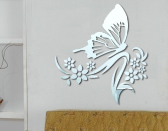 Wall Decals - Acrylic Mirror Wall Decor Big Butterfly was sold for ...