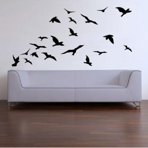 20 Lifesize Abstract Birds Vinyl Decals Wall Art Stickers