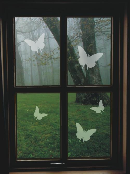 30 frosted butterflies sandblast effect vinyl decals home decor stickers