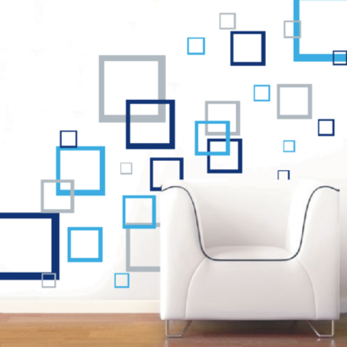 Wall Decals Abstract Squares Vinyl Decals Wall Art Stickers - Vinyl wall decals abstract
