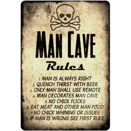 Retro Man Cave Signs : Signage retro man cave metal sign was listed for r