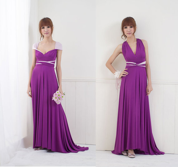 Two color infinity dress