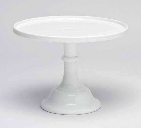 Milk Glcake Stand Plate White