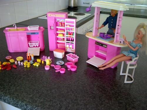 Vintage Toys Original Barbie Kitchen Play Set 1992 Made By Mattel