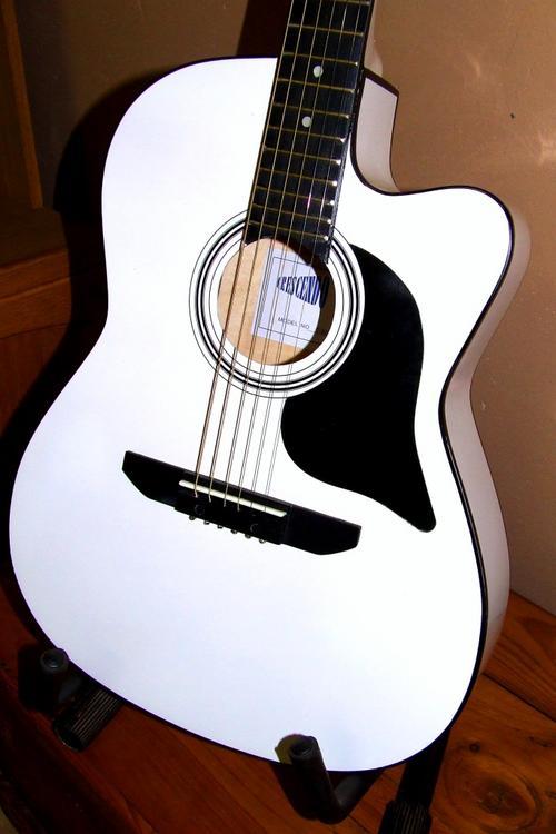Acoustic Guitar With Cutaway Folk Style