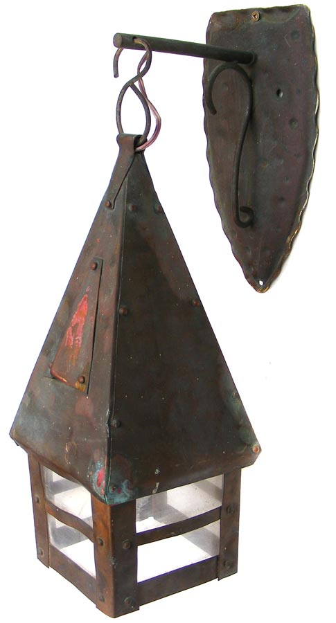Other Lighting Vintage Copper Electric Wall Lantern