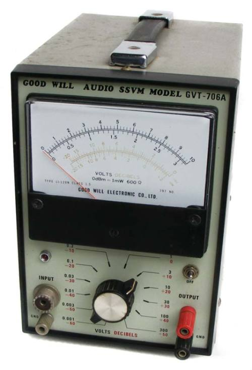 Test equipment vintage good will audio ssvm volt meter gvt 706a the meter is in a good cosmetic condition with some marks on the casing no rust fandeluxe Image collections