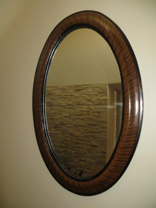 Frames Amp Mirrors Antique Oval Tiger Striped Wood Framed