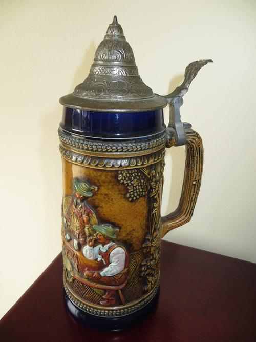 Other Bar Accessories Large Vintage Original Gerzit Gerz W Germany Lidded Porcelain Beer