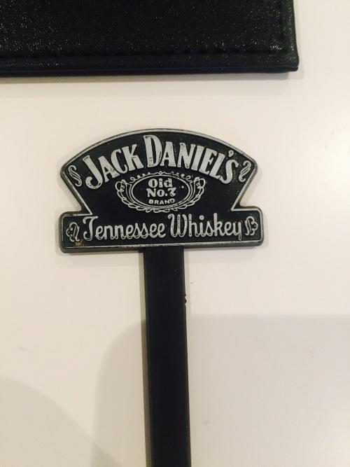 bar accessories jack daniels credit card holder plus stirrer sticks was listed for on. Black Bedroom Furniture Sets. Home Design Ideas